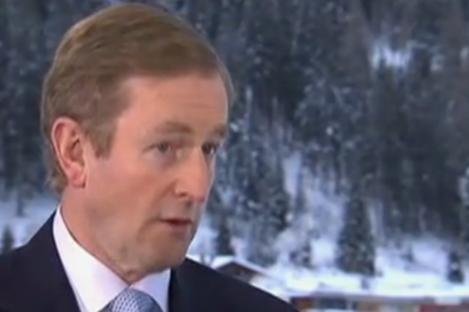 Taoiseach Enda Kenny at Davos