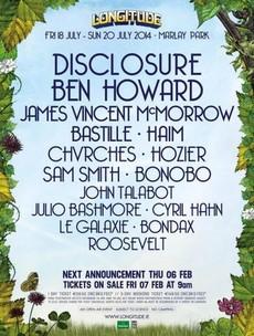 Disclosure, Haim, JVMM and Ben Howard confirmed for Longitude festival