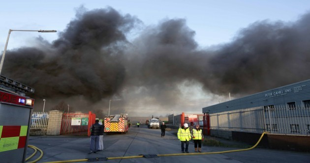 Ballymount industrial estate fire could burn for rest of weekend