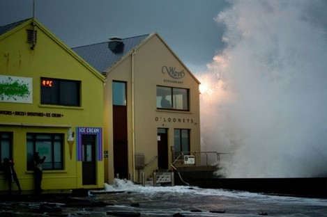 Stormy conditions in Lahinch at the start of the year