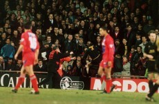 VIDEO: Non-league player attacks fan on 19th anniversary of Cantona's 'kung-fu' kick