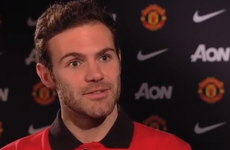 Check out Juan Mata's first interview as a Manchester United player