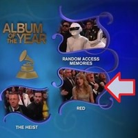 Taylor Swift thought she had won the big Grammy, but she hadn't
