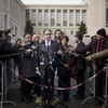 Journalists from rival Syrian sides come close to blows in Geneva