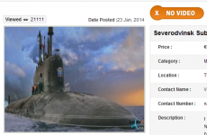 This Cork classified ad is selling a Russian nuclear attack submarine