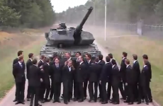 This brake test with a huge tank demands absolute balls of steel