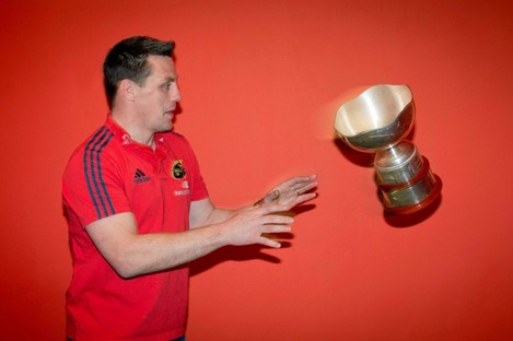 Coughlan shows his safe hands at the SEAT Munster Schools Senior & Junior Cup Launch.