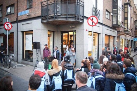 A performance at Exchange Dublin during Culture Night 2012.