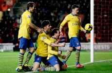 Ten-man Gunners held by Southampton