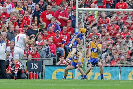 Anthony Nash strikes a free in last year's All-Ireland final.