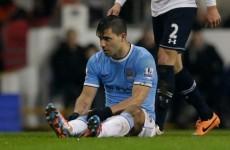 Man City face nervous wait over Aguero fitness