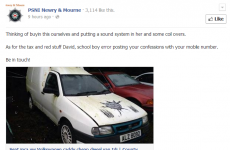 The PSNI Facebook post busting a used car seller is pure karma