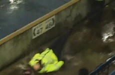 GIF: Puddle causes policeman to take hilarious tumble at Millwall's game