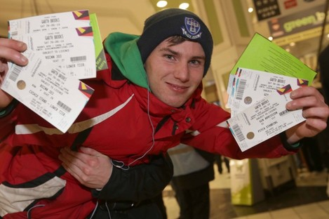Darren Prendergast from Crumlin was pretty happy with his tickets.