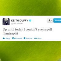 Tweet Sweeper: Keith Duffy is the 'filantrapist' of the year
