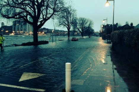 Flooding at O'Callaghan Strand in Limerick this morning
