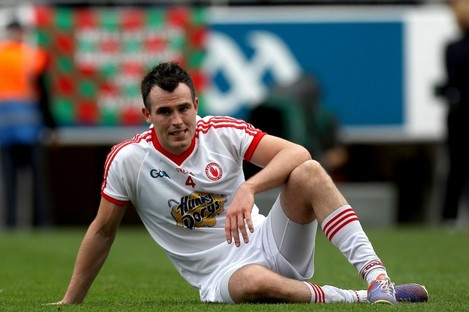 Cathal McCarron after Tyrone's defeat to Mayo last August.