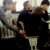 Well this chair pulling prank didn't go exactly to plan