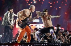Bruno Mars was joined by the Red Hot Chili Peppers for the Superbowl halftime show