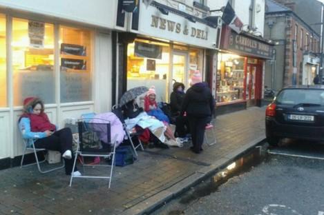 The queue in Dundalk last week.