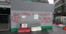 Racist graffiti painted opposite Immigrant Council offices