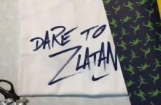 Zlatan sent Cristiano Ronaldo a 'Dare to Zlatan' t-shirt for his birthday