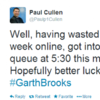 Hopes are high in the Garth queues this morning