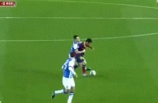 GIF: Real Sociedad player figures out how to stop Lionel Messi