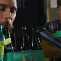 Who knew you could make beer bottles do this?