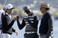 Untouchable Andy Garcia sinks a chip shot beauty at Pebble Beach