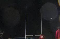 Watch: Welsh U20 lands insane wind-assisted penalty