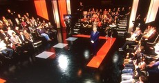 Here's a sneak peek at the set for Vincent Browne's new show...