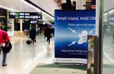 There's an accidental message to tourists in Dublin Airport