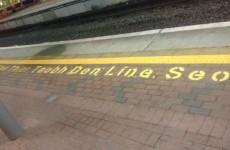 Irish Rail should really think about hiring an Irish speaker...