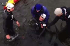 Distressed Davina McCall dragged out of water after freezing Sport Relief swim