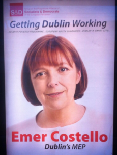 No Labour logo on Emer Costello election posters was 'an oversight'