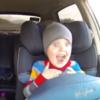 Kid experiences pure joy while taking a ride in a drift car