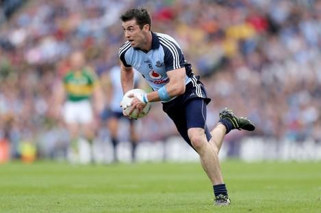 Michael Darragh Macauley in action for Dublin.