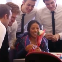 Sneaky a cappella group serenade unsuspecting girls for Valentine's Day