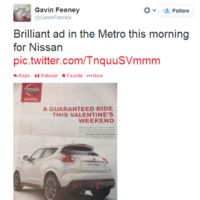 Nissan know exactly how to advertise to Irish people
