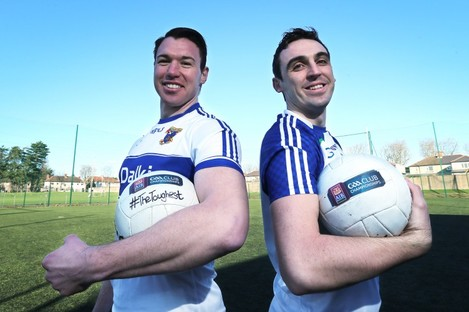 Fennell with Ballinderry's Kevin McGuckin: The sides meet in the AIB All-Ireland Club SFC semi-finals on Saturday.
