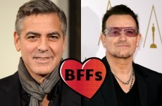 George Clooney's planning a motorbike trip around Ireland with Bono