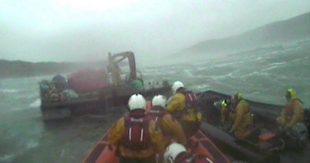 "VIDEO: Four stranded fish farmers rescued in ""extreme"" conditions at sea"