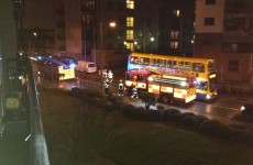 Apartments evacuated due to storm damage