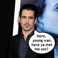 Colin Farrell says his young fella is an absolute stud... it's The Dredge
