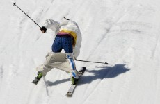Swedish Slopestyle skier loses balance, trousers (possibly dignity) in awkward landing