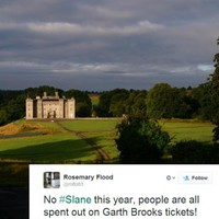 There won't be a concert at Slane this year and Twitter blames Garth Brooks