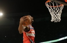 John Wall wins NBA Dunk Contest with mascot slam