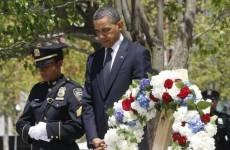 Obama lays wreath at Ground Zero