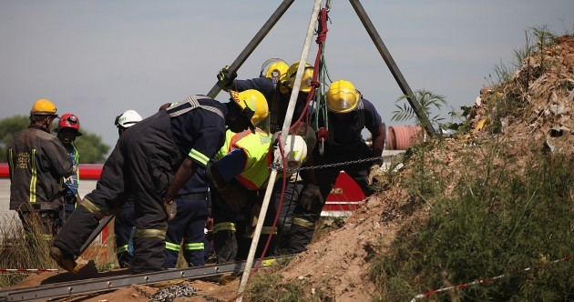 Hundreds feared trapped in South Africa mine collapse, 11 rescued